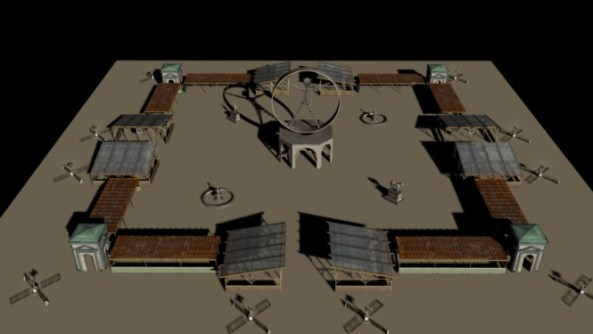 Plan view of piazza (Rendering by Andrew Johnstone)