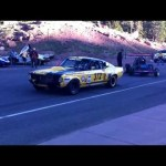 Pikes Peak 2013 startline: Ralf Christensson's 1967 Ford Mustang GT 350 launch