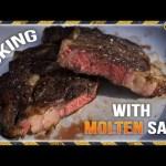 Cooking Steak with Molten Salt
