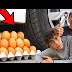 تحدي تكسير الأشياء بعجلة السيارة 🚗