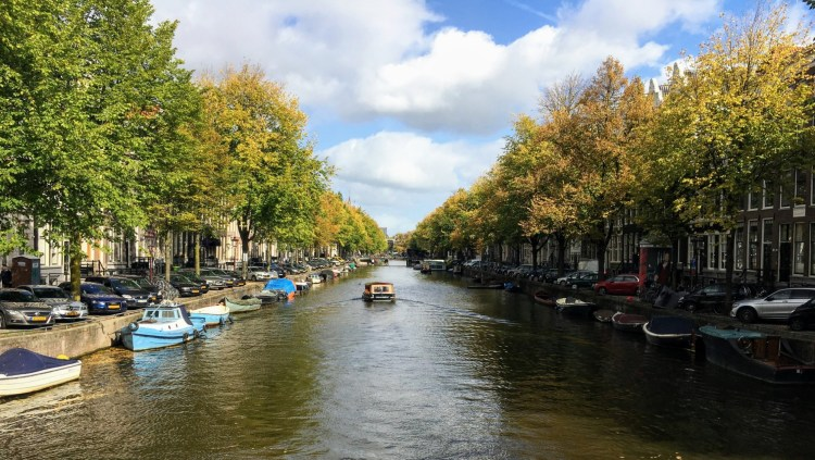 Amsterdam canal wide