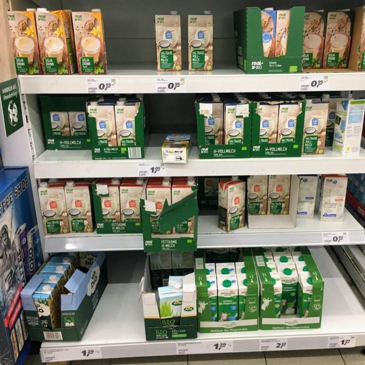 milk German supermarket