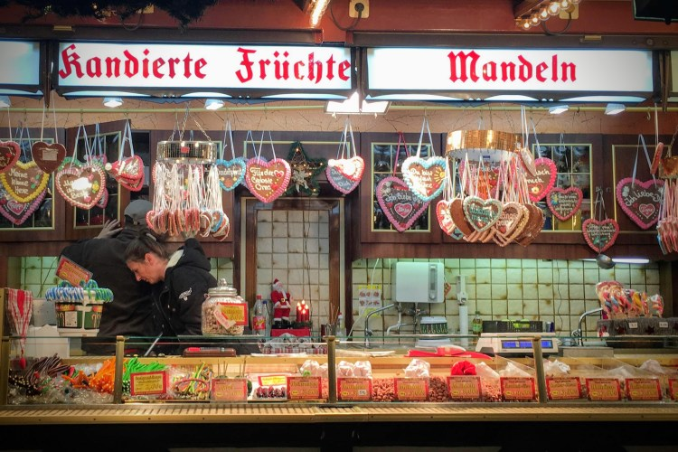 Christmas market cookie stand Germany