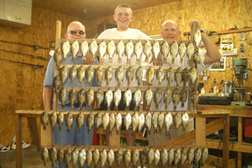 The Friesen group from Nebraska. We had a great day landing these crappie and gills.