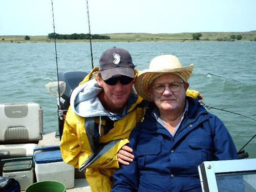 My beloved grandfather and I, years ago on the waters at Bush's Landing