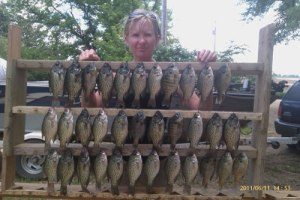 Kia and I had a great day on Lake Marindahl catching these crappie