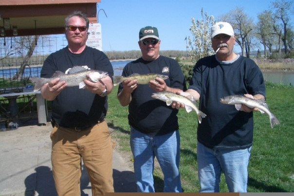 Catching walleye at Antelope Creek in 8'-10 of water