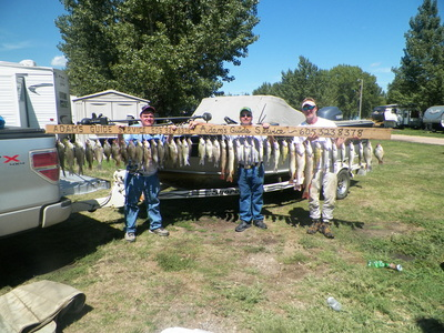 Lake Thompson species: walleye, pike, perch, crappie, sm bass, catfish