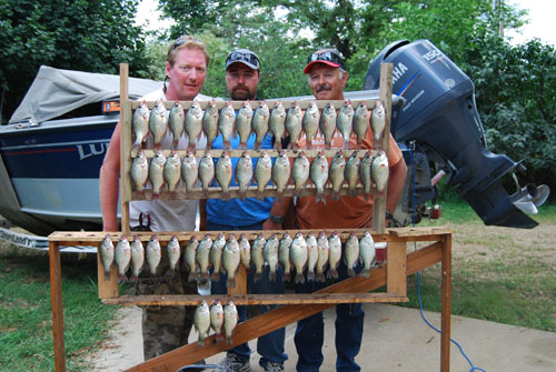 Onida boys and I catching a few panfish