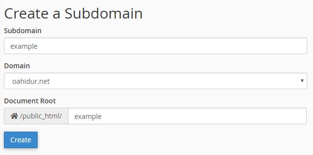 create subdomains