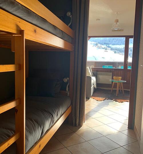 Le coin montagne du Kodiac avec ses 2 lits superposés