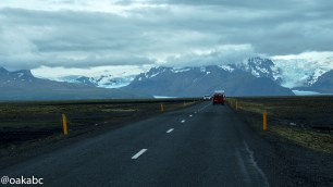 The way to Skaftafell national park