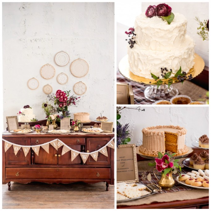 Fall Wedding Inspiration Shoot dessert table