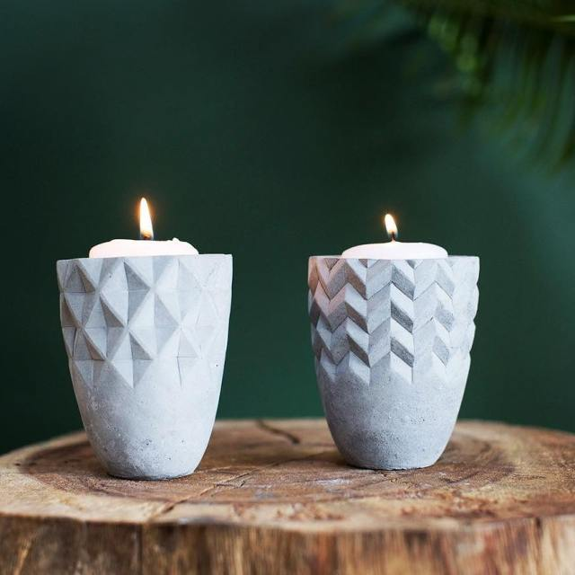 Back by popular demand these concrete candle holders can behellip