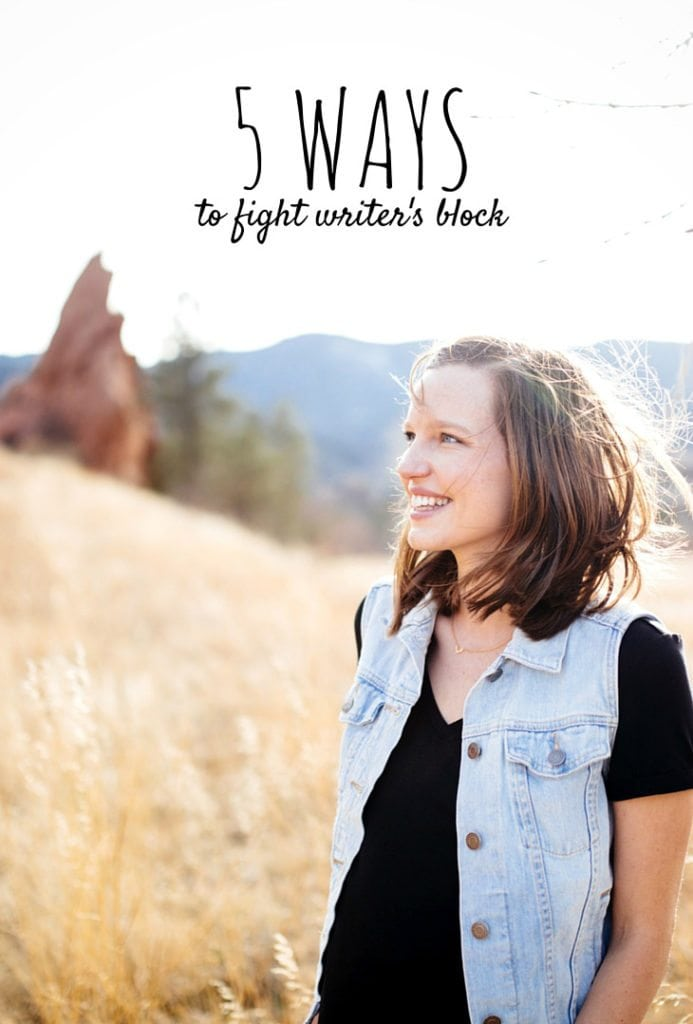 Five ways to fight writer's block and keep those ideas flowing! #writer #creative #blogger