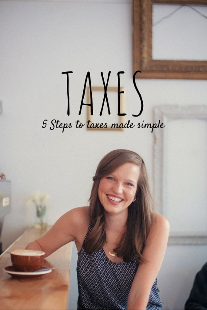 It is Tax season! I love these 5 steps to taxes made simple! Anyone can do it!