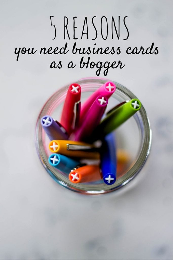 5 reasons you need business cards as a blogger