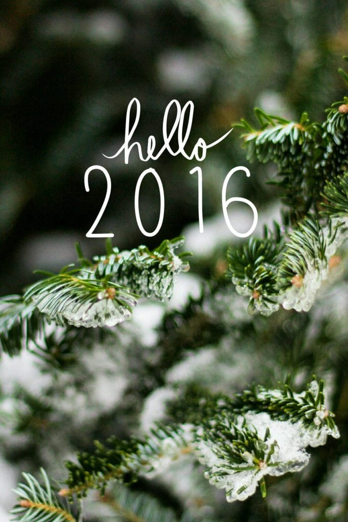 Hello 2016 - Fresh Starts and the New Year