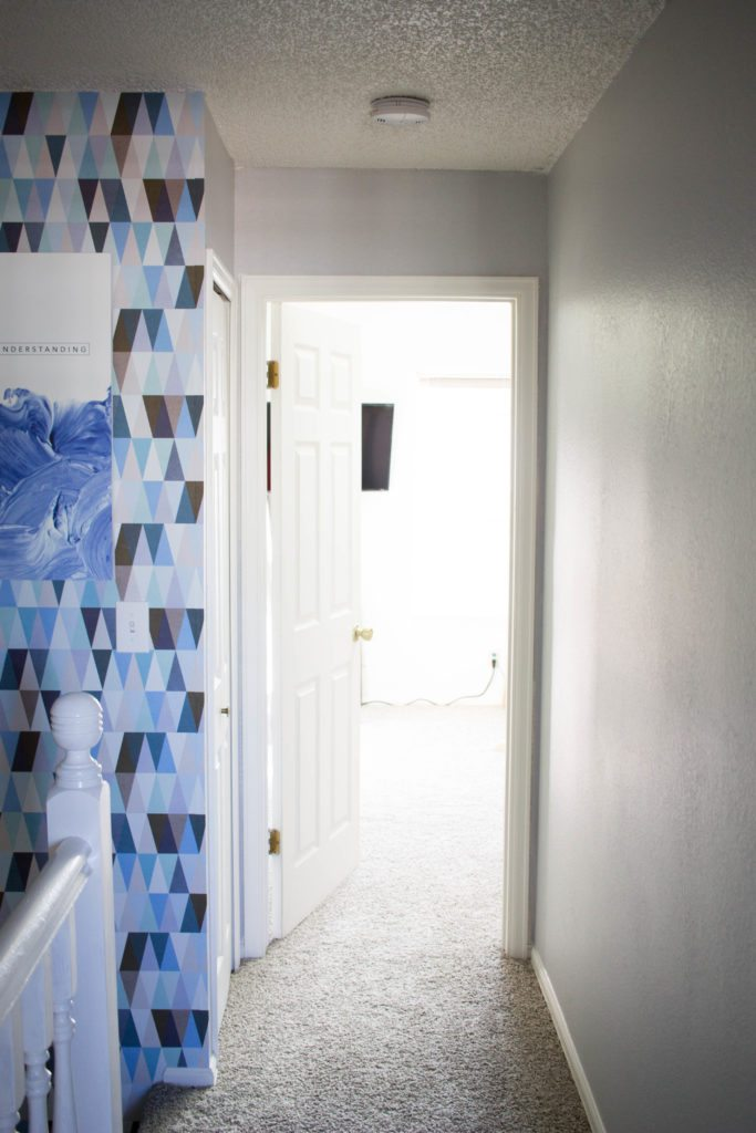 Walls Need Love - Love this Hallway remodel! And this Wallpaper is the best kind! Easy to put up and easy to take down!