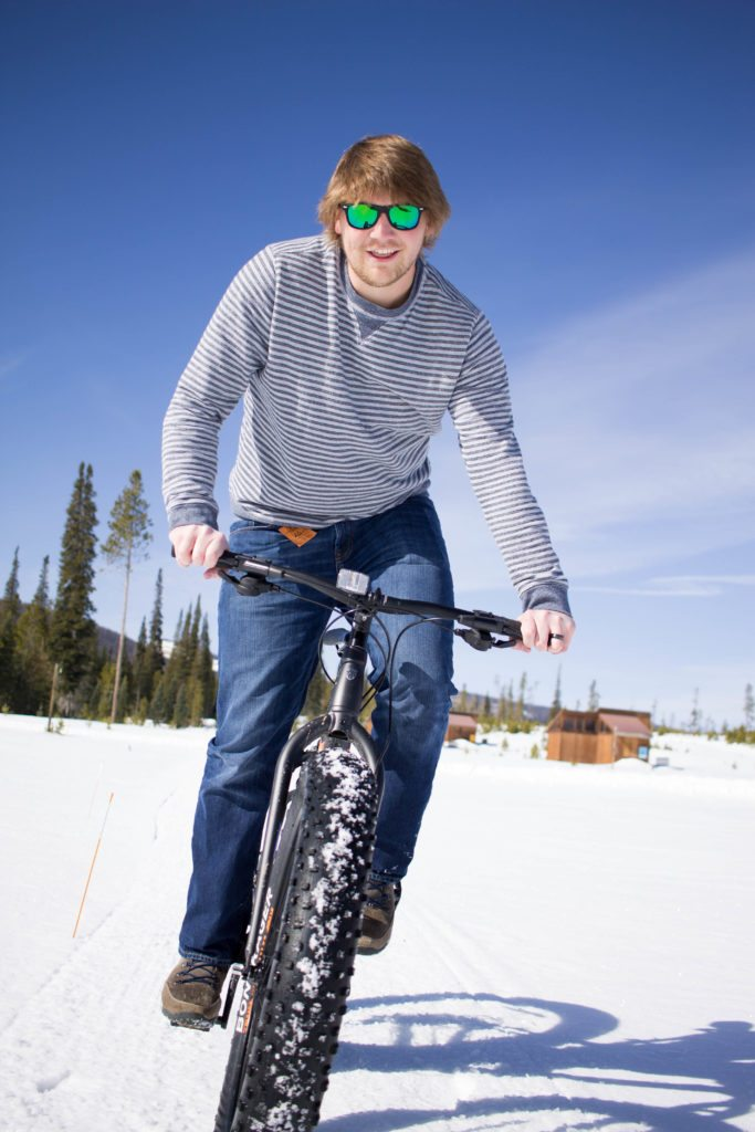 Fat Biking adventure at Snow Mountain Ranch in Colorado with Chacos