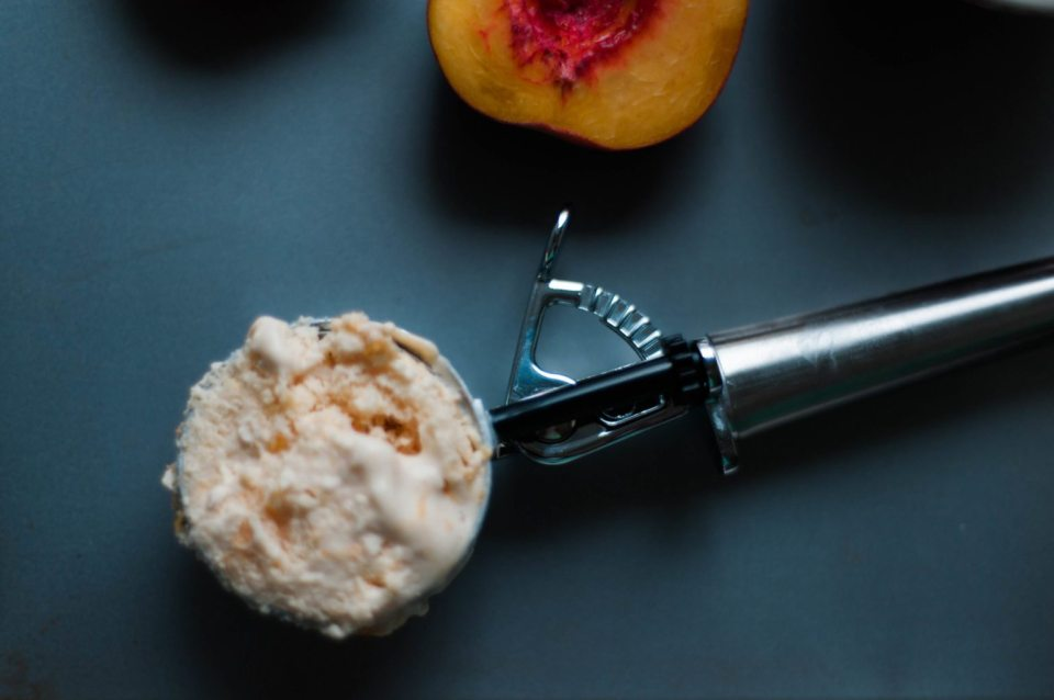 Fresh Peach homemade ice cream