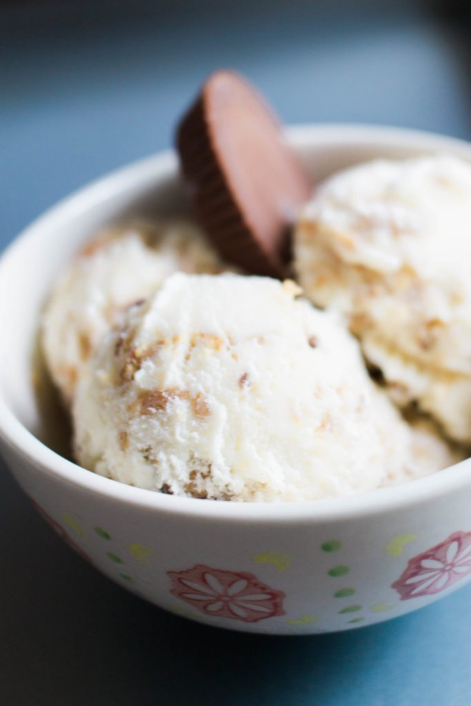 Homemade Reese's Peanut Butter Ice Cream Recipe! So easy & way tasty!