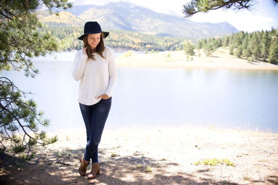 September Popsugar must have box and adorable fall outfit with wide brim hat
