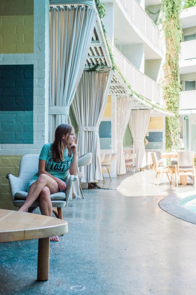 The Avalon at Beverly Hills poolside style