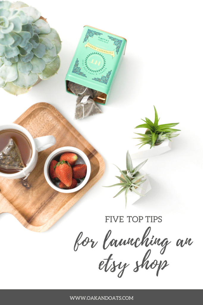 Five Top Tips for Launching an Etsy Shop
