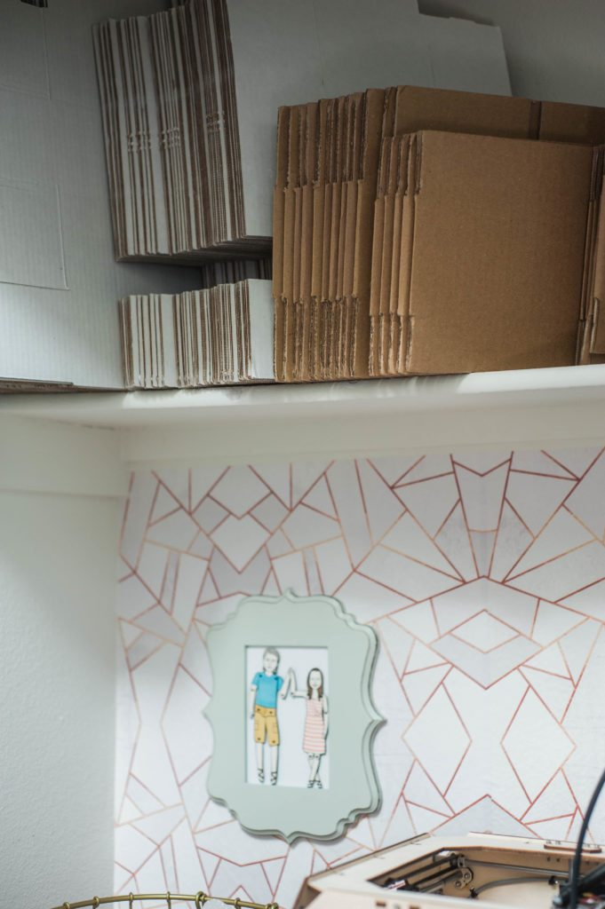 An Unlikely Closet Makeover - tuning a closet into a office space with Walls Need Love