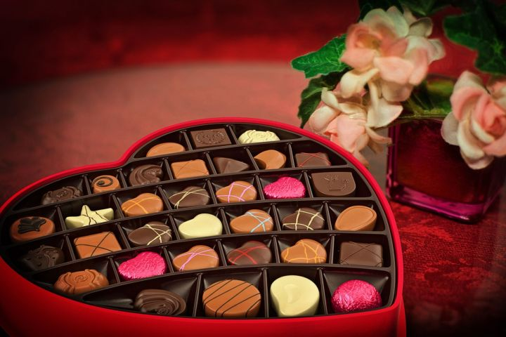 Valentine's Day candy and flower for holiday planning