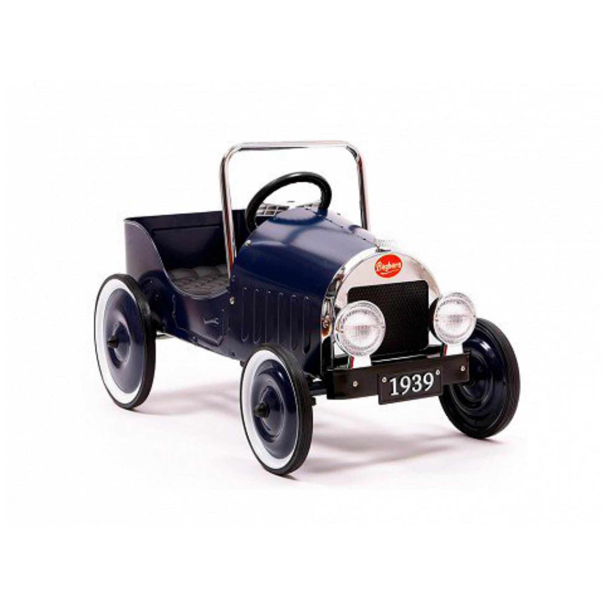 classic blue pedal car