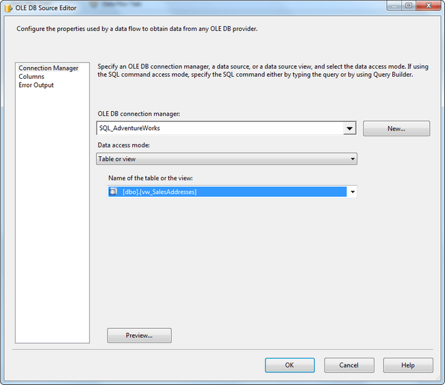 SSIS View SQL Connection