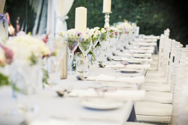 Wedding Table Setting at Oaken Grove Vineyard