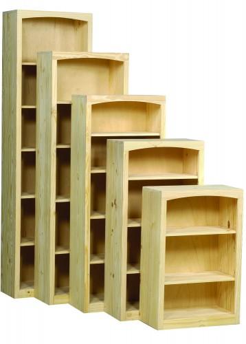 Archbold Furniture 24 Wide Pine Bookcase Oak Factory
