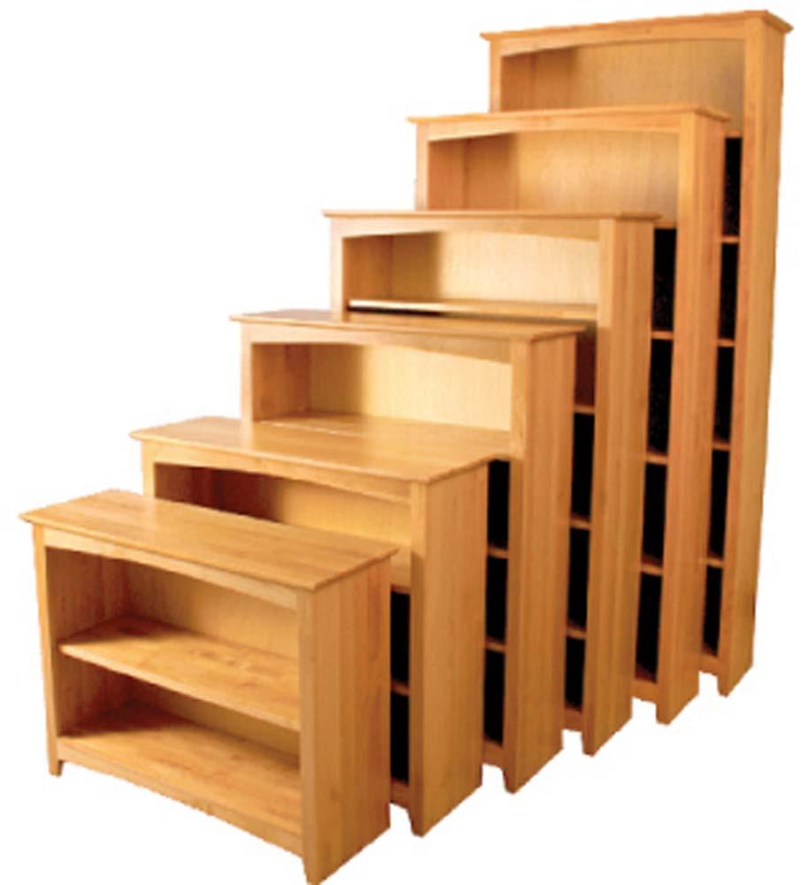 Archbold Furniture Alder Bookcase Oak Factory Outlet