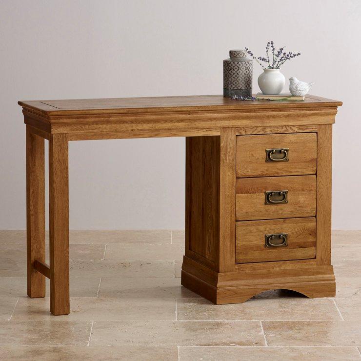 French Farmhouse Dressing Table In Solid Oak Oak