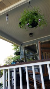 Front porch ceiling, after