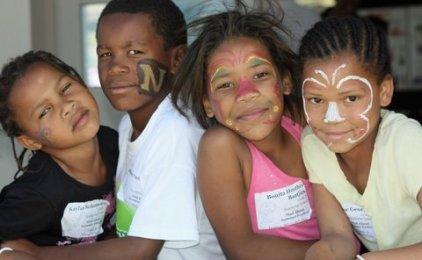 Kayloia Solomon, Bonnita Baatjies, Irene george from Rondevlei Primary School