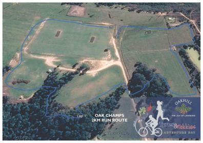 OAKS CHAMPS Run Route