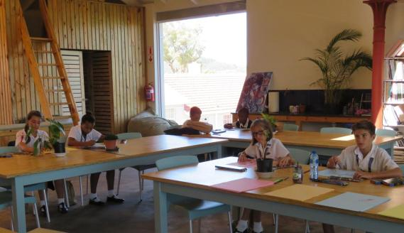 Art programme (from left) Anje Boshoff, Caitlin Philander, Jodie Matter and Cullen Mac Millan