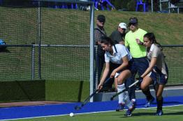 Oakhill 1st team Anna Reid challenged down the line (Copy)