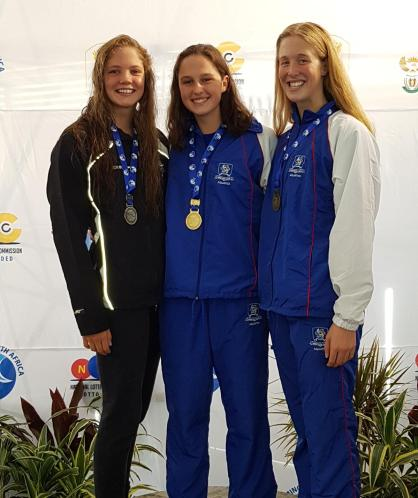 Aimee Canny wins gold at 50m freestyle and SA youth record (Copy)