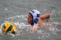 Oakhill U13A hole guard Connor Murphy defending the ball