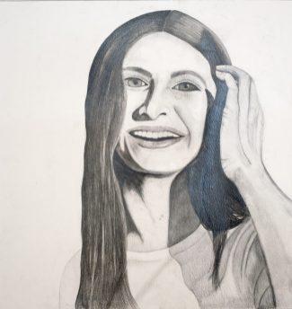 Gr 10 self portraits (9)