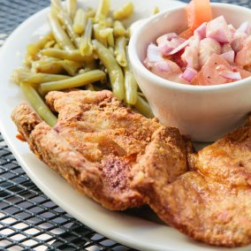 Oak Hill Bar & Grill's Monday Lunch Special: Fried Pork Chops!