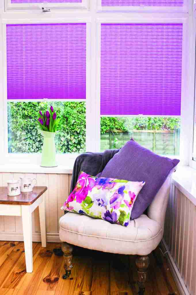 pink perfect fit pleated blinds