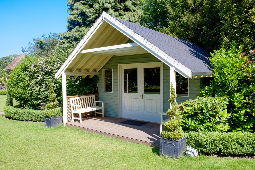 Summerhouse at Kent's wedding venue, Knowle Country House