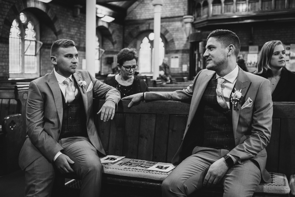 Groom and his brother before the ceremony | Sidcup Wedding of Becky & Hugo | Oakhouse Photography