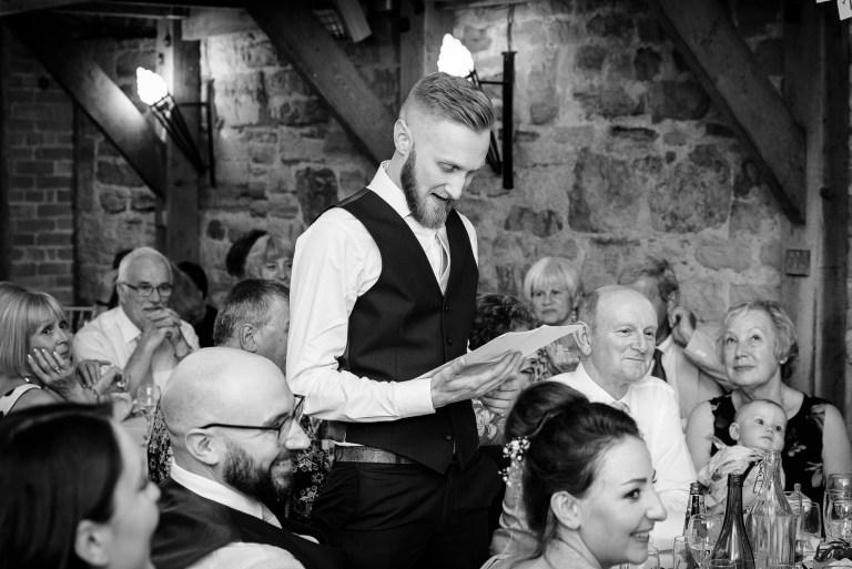 Best man's speech at Swallows Oast wedding venue, Ticehurst, East Sussex   Oakhouse Photography
